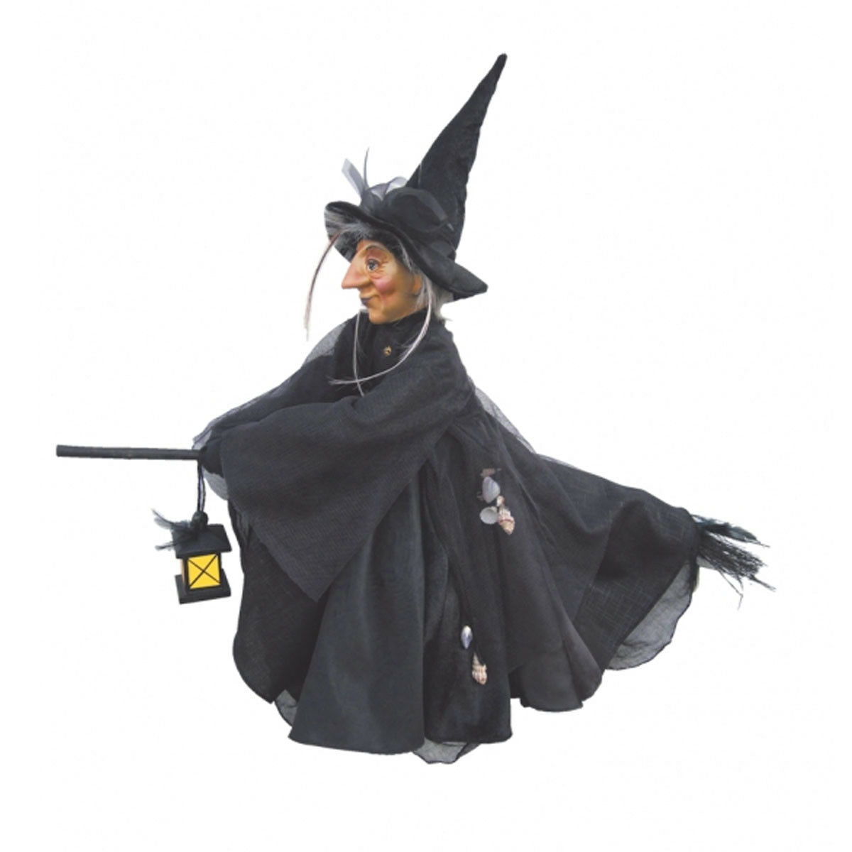 Witches of Pendle 50cm Hazel Standing Witch Burgundy