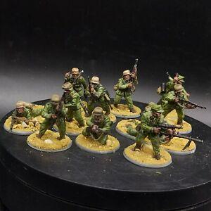 Dipinto 28mm BOLT ACTION Tedesco Afrika Korps × 10 SQUADRA #4 da tavolo WW2
