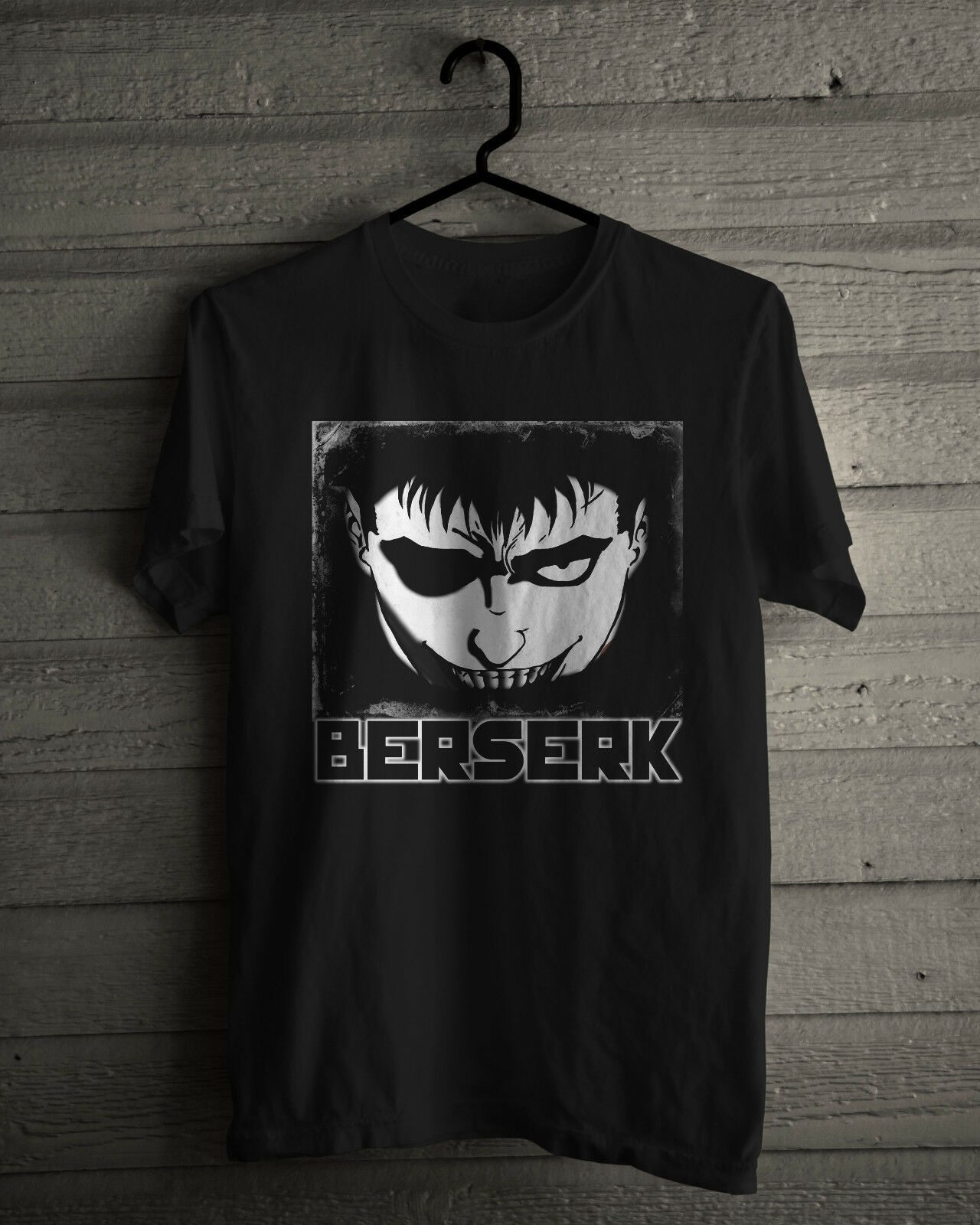 BERSERK T-shirt, Japanese Anime manga series Men's Black Or White ...