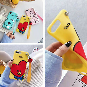 Cute-Cartoon-Heart-Shockproof-Wristband-Strap-Case-For-iPhone-XS-Max-XR-X-8-7-6