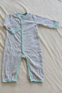 184ed1a353ec Rene Rofe Baby Newborn Boy Footless Coverall One Piece Romper. Size ...