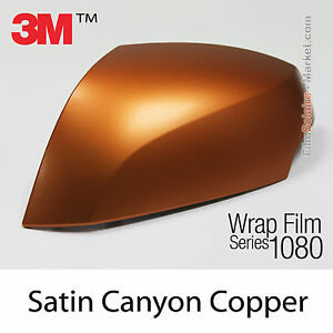 30x75cm film satin canyon copper 3m 1080 s344 vinyle covering series wrap film ebay. Black Bedroom Furniture Sets. Home Design Ideas