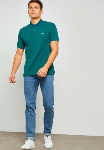 Lacoste Homme Polo Shirt Top T-shirt L.12.12 ACONIT Vert 100/% Coton RRP £ 75