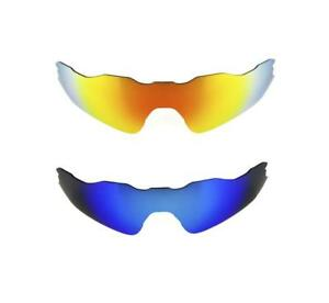 34db3e8c99 NEW POLARIZED FIRE RED ICE BLUE REPLACEMENT LENS FOR OAKLEY RADAR EV ...