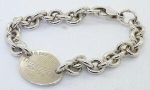 Tiffany-amp-Co-Sterling-silver-034-RETURN-TO-TIFFANY-amp-CO-NEW-YORK-034-chain-bracelet