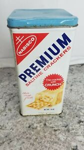 1969-Vintage-Nabisco-Premium-Saltine-Crackers-Tin-With-Lid-Empty-Made-In-USA