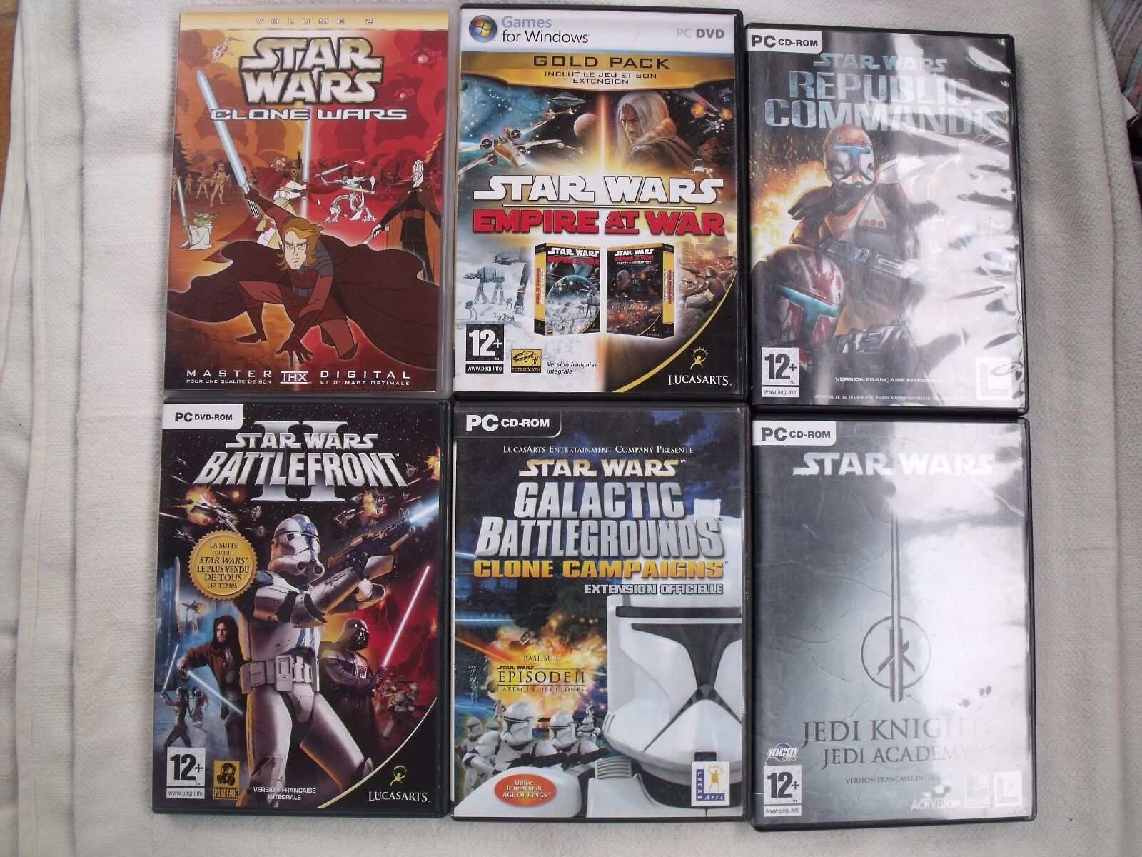 LOT DE 6 JEUX PC STAR WARS - Occasion StarWars