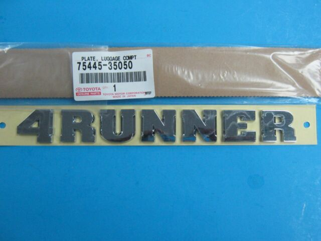 Genuine Toyota OEM 03-09 4Runner Luggage Compartment Door Name Plate 75445-35050