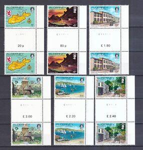 1-12 Ansichten Mit Seitenrand Rechts Year-End Bargain Sale Reasonable Alderney 1983 Postfrisch Stegpaar Minr Topical Stamps Stamps