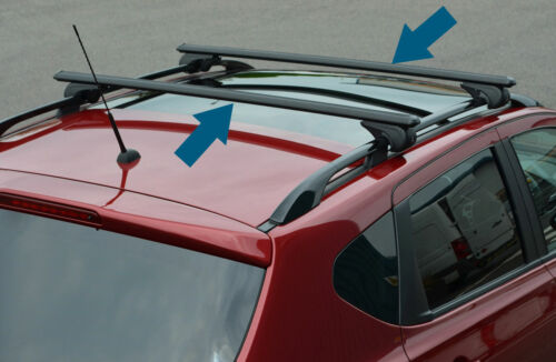 Black Cross Bars For Roof Rails To Fit Volvo XC90 100KG Lockable 2003-15