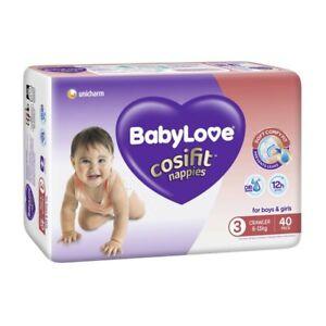 Babylove Unisex Cosifit Crawler Nappy 6-11 Kg Size 3 40 pack