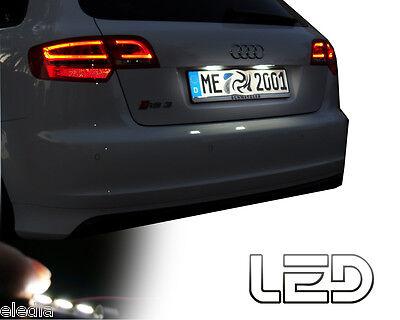 Cosciente Audi A1 Ampoules Led Blanc Anti Erreur Odb éclairage Plaque Immatriculation