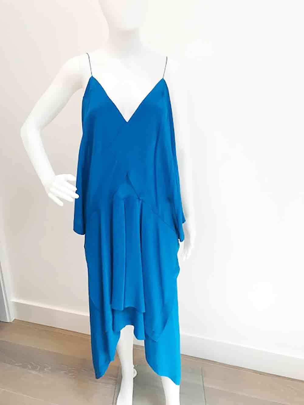 Designer BNWOT KITX By Kit Willow Stunning Vivid bluee Silk Size 6 Women's Dress