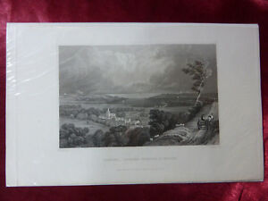 Antique-engraving-of-BRADING-TOWARD-ST-HELENS-ISLE-OF-WIGHT-c1830-Art-print