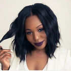 Lace Front Wig Loose Body Wavy Curly Natural Black Women Synthetic Hair Long Bob