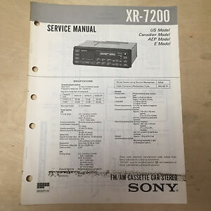 sony service manual for the xr 7200 cassette player radio car stereo rh ebay com uher 4200 report stereo service manual stereo amplifier service manual