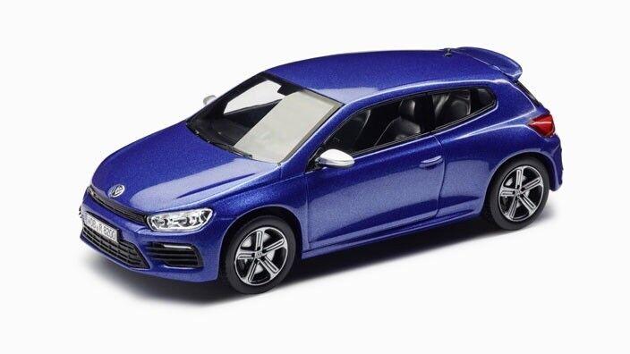 VW Scirocco R 1K8 2.0 T 2017 rising bleu 19  Cadiz 1 43 Spark (OEM concessionnaire modèle)