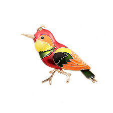 New Fashion Nice Color Enamel Bird Gold Pin Brooch
