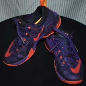 san francisco 3014e a7ad6 Details about Nike Air Max Lebron 12 Low Purple Citrus Kids Youth Shoes  Size 6.5Y 744547-565