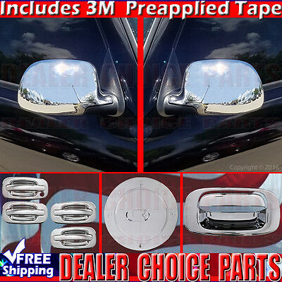 1999-2006 SILVERADO SIERRA RegCab Chrome Door Handle+Gas+Mirror+Tailgate COVERS