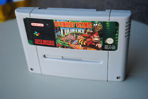 Jeu-DONKEY-KONG-COUNTRY-pour-Super-Nintendo-SNES-version-PAL