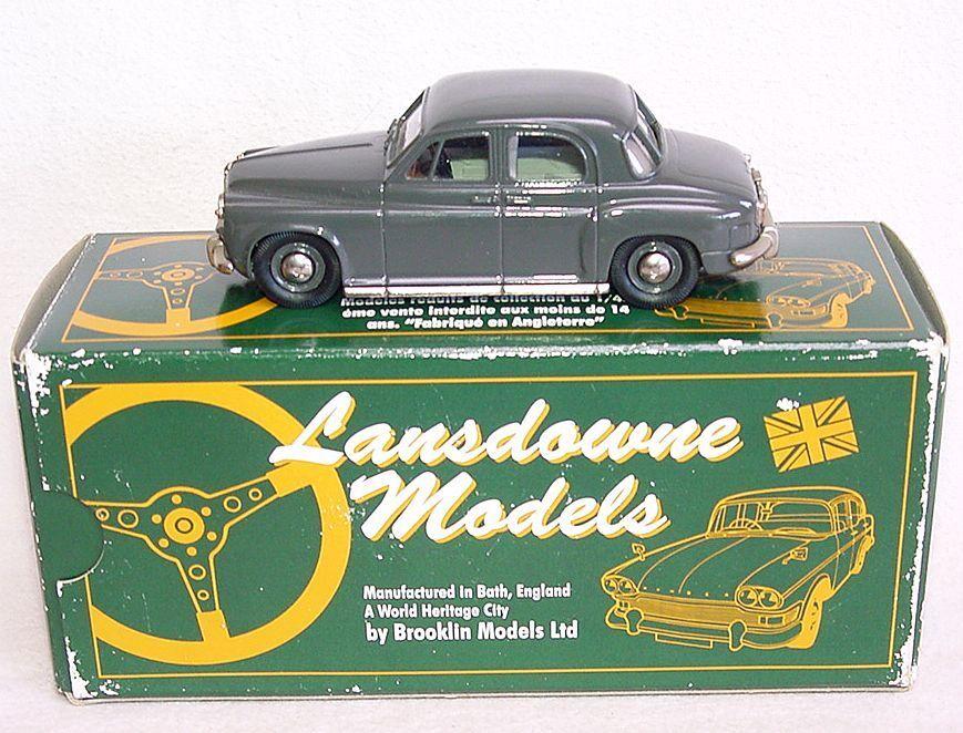 Lansdowne modelle 1   43 rover p4 1957 weißes metall fabrik auto mib ` 90 selten