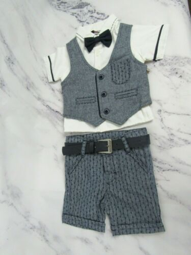 Baby Boy formal Tuxedo with vest Tie Suit Clothes Outfit for Wedding Christening