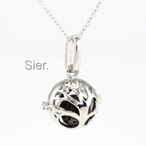 Small Tree of Life Aromatherapy EssentialOil Diffuser Necklace Locket Lava Stone