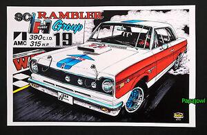 "Hot Rod Drag Art Print Poster AMC 1969 American Rambler 69 Hurst 11/"" by 17/"""