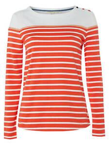 White-Stuff-Poppy-White-Jersey-Tee-TShirt-Tomato-Red-Womens-Top-Size-8-2
