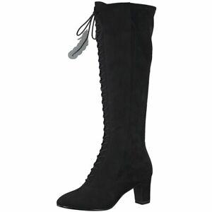 Tamaris Damen Stiefel Annmaria 25014 23 Leder Boot schwarz | Modefreund Shop
