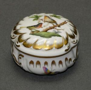 Herend-Hvngary-Deckeldose-Porzellan-Rothschild-6036-RO-8-0-cm