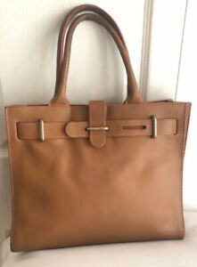 FURLA-WOMEN-S-SATCHEL-BROWN-LEATHER-DOUBLE-HANDLES-HANDBAG