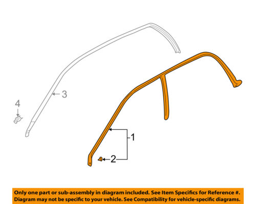 SUBARU OEM 03-08 Forester Roof-Drip Weatherstrip Seal Molding Left 63521SA010