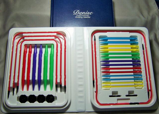 Denise Interchangeable Knitting Needles Kit Free S//H Bonus Gift