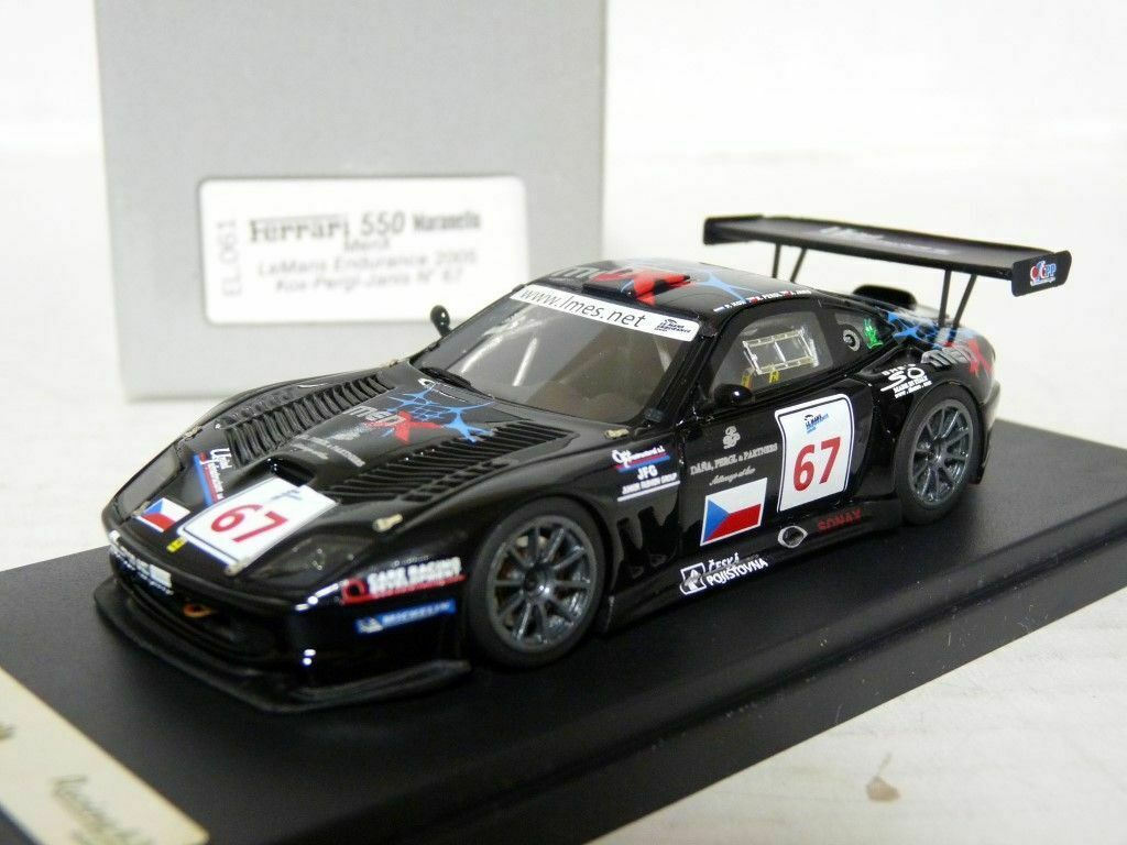 Racing 43 EL061 1 43 Ferrari 550 MenX Le Mans 2005 Handmade Resin Model Car