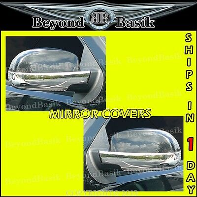 2007-2013 CHEVY SILVERADO LOWER Chrome Mirror COVERS With Puddle Light Hole