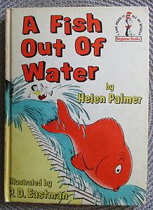 A-FISH-OUT-OF-WATER-1961-Book-Club-Edition-Helen-Palmer-Dr-Seuss-Beginner