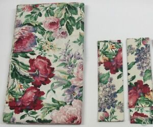 cd5b70a34 2) Rod Pocket Curtain Panels   Tiebks Floral Escapade ~ 38