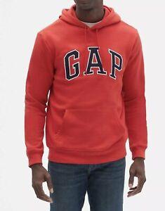 Gap Mens Fleece Arch Logo Pullover Hoodie USA Flag