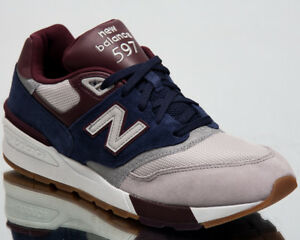 new product 849b0 03629 New Balance 597 Men Sneakers Grey Indigo Burgundy 2018 ...