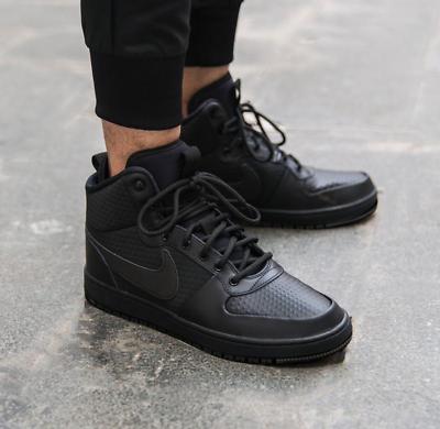 NUOVO Nike Men/'s Boots//Nike BOROUGH Mid Inverno COURT//Hi-Tops//Nero//£ 74.95