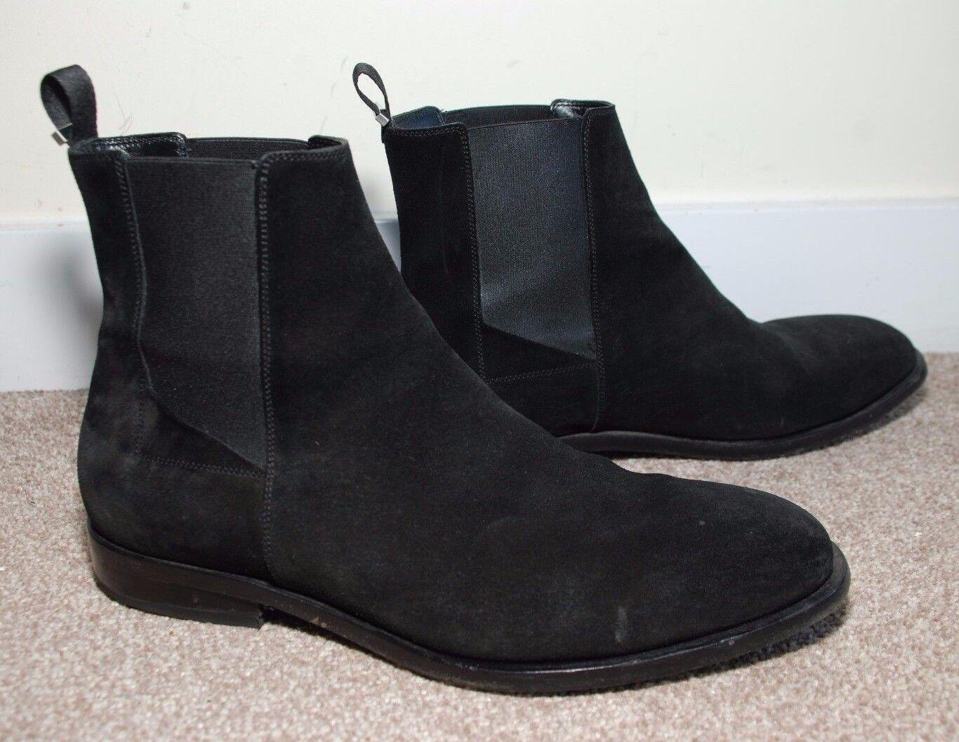 Balenciaga Men's Black Suede Chelsea Boots size 42