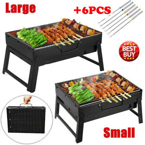Charcoal-Smoker-Grill-Outdoor-BBQ-Barbecue-Cooker-Backyard-Camping-Patio