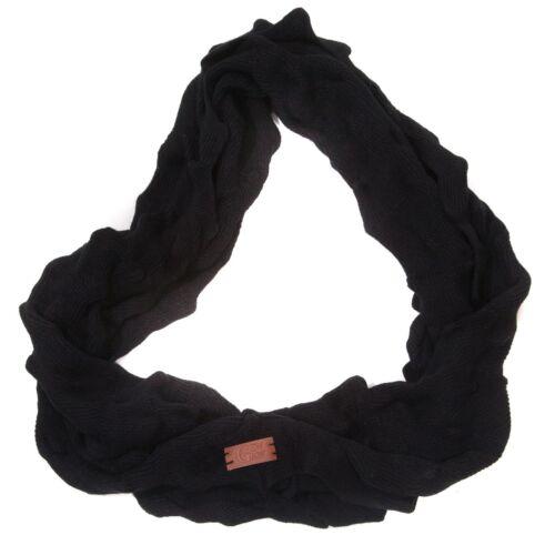 Gew Gaw Knitted Black Soft Spike Snood//Scarf