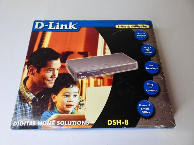 D-Link DSH-8 10/100Mbps Dual Speed SOHO Hub with Switch 8-Port