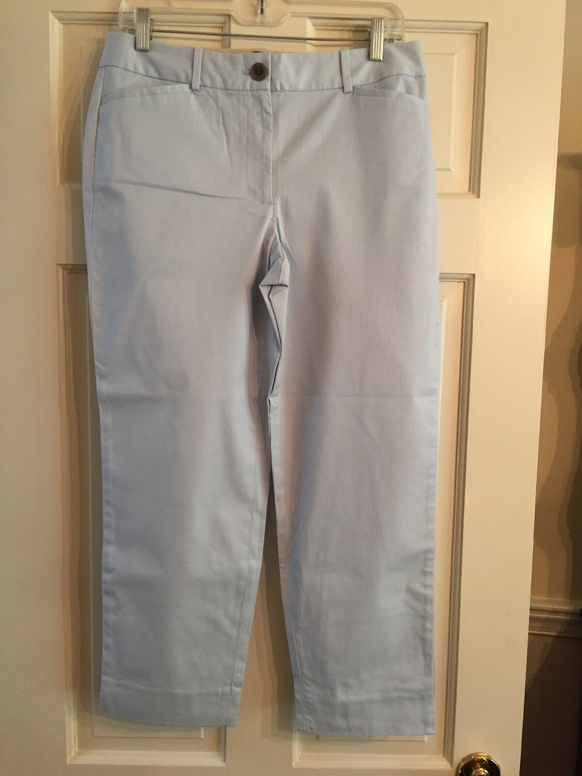 NWT Talbots The Perfect Crop Curvy Crystal bluee Misses Size 6  69.50