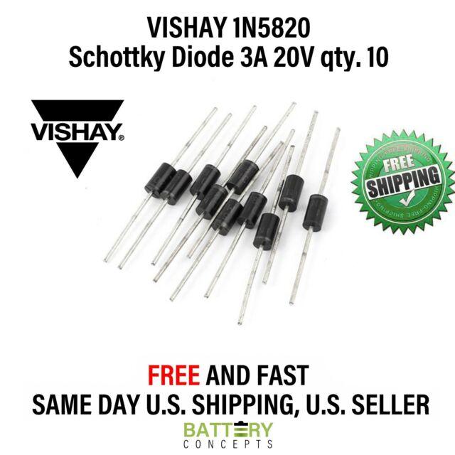 10pcs 1N5820 3A 20V Schottky Diode NEW