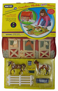 Breyer-Horse-Stablemate-Country-Stable-Zip-Bin-Barn-Play-Set-701850-Free-Ship