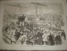 Reception Duke of Edinburgh Geelong Australia 1868 old print ref Z1